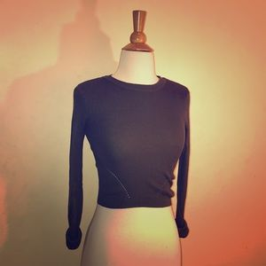 Olive green ribbed crop top